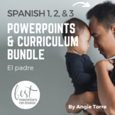Spanish One, Two, & Three PowerPoints and Curriculum Mega Bundle