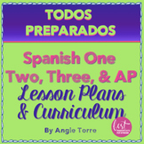 Spanish One | Two | Three and AP No-Prep Lesson Plans and Curriculum Bundle