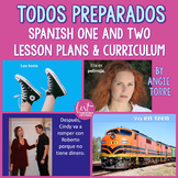 Spanish One and Two Lesson Plans and Curriculum for an Entire Year Bundle