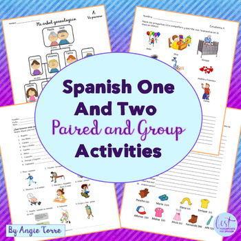 Spanish One and Two Speaking and Listening Paired and Group Activities