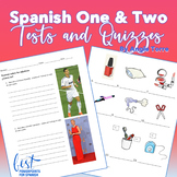 Spanish One and Two Tests and Quizzes