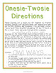 Spanish Onesie Twosie - Verb Conjugations + Food/Drink Vocab - Realidades 1 3A