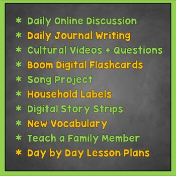 Spanish Distance Learning, 2 Weeks of Online Lesson Plans, Spanish 1, Spanish 2