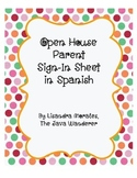 Spanish Open House Sign-In Sheet