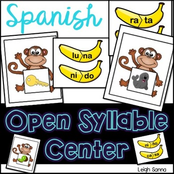 Spanish Open-Syllable Reading Center/ Centro de sílabas