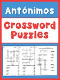 Spanish Opposites  Crossword Puzzles