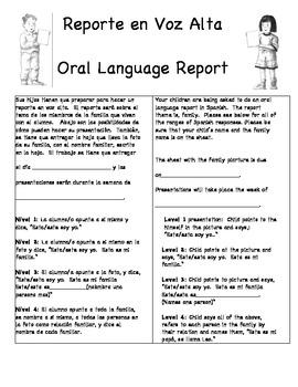 Spanish Oral Language Report