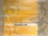 Spanish Oral Practice - After school activities