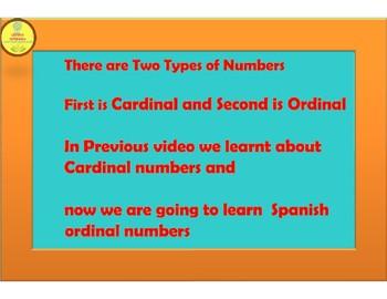 Spanish Ordinal Numbers