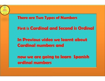 Spanish Ordinal Numbers