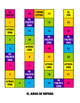 Spanish Ordinal Numbers Board Game