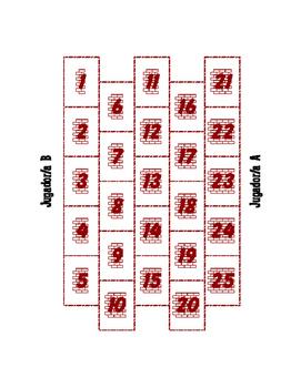 Spanish Ordinal Numbers Brickbreaker Partner Game