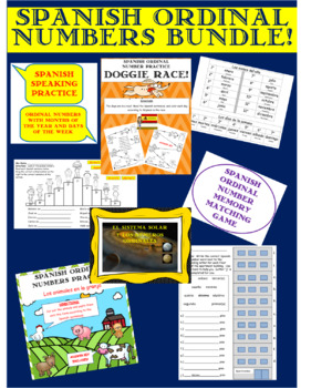 Spanish Ordinal Numbers Bundle