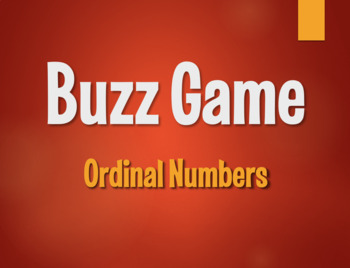 Spanish Ordinal Numbers Buzz Game