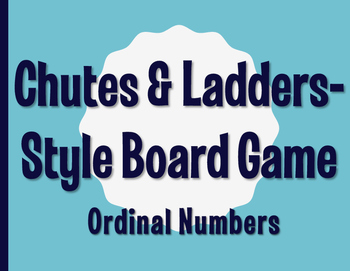 Spanish Ordinal Numbers Chutes and Ladders-Style Game