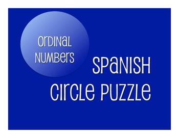 Spanish Ordinal Numbers Circle Puzzle