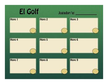 Spanish Ordinal Numbers Golf