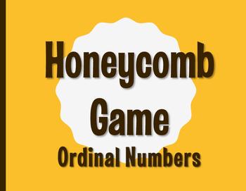 Spanish Ordinal Numbers Honeycomb Partner Game
