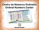 Spanish Math Ordinal Numbers / Numeros Ordinales in a Station / Center Activity