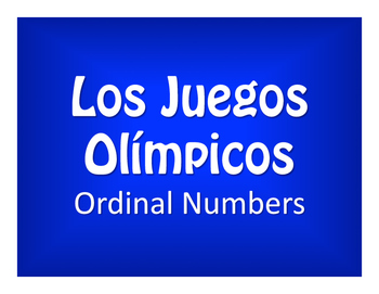 Spanish Ordinal Numbers Olympics