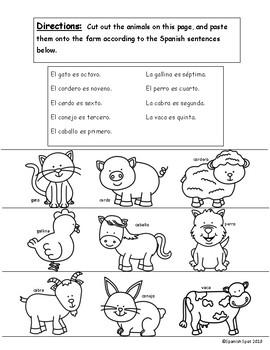Spanish Ordinal Numbers Practice