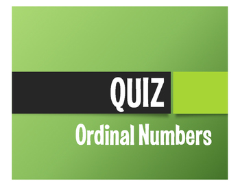 Spanish Ordinal Numbers Quiz