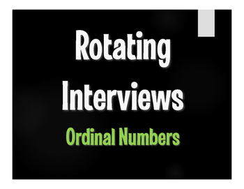 Spanish Ordinal Numbers Rotating Interviews