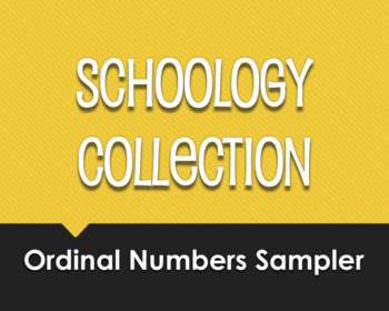 Spanish Ordinal Numbers Schoology Collection Sampler