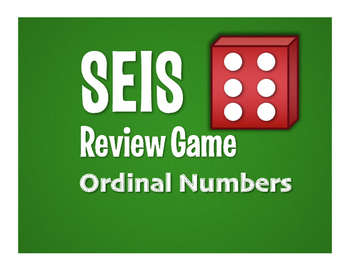 Spanish Ordinal Numbers Seis Game