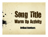 Spanish Ordinal Numbers Song Titles