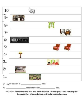 Spanish Ordinal Numbers Speaking Practice