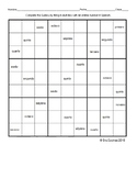 Spanish Ordinal Numbers Sudoku