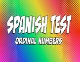 Spanish Ordinal Numbers Test