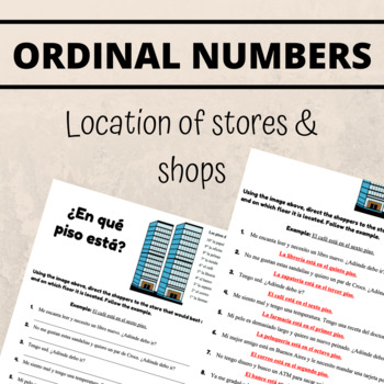 Spanish Ordinal Numbers Worksheet