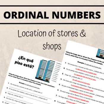 Spanish Ordinal Numbers Worksheet by Senora Novales | TpT