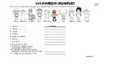 Spanish Ordinal Numbers / los numeros ordinales / workshee