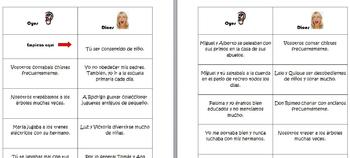 Spanish Oyes/Dices Verb Conjugation Game for the Imperfect (Realidades 4A/4B)