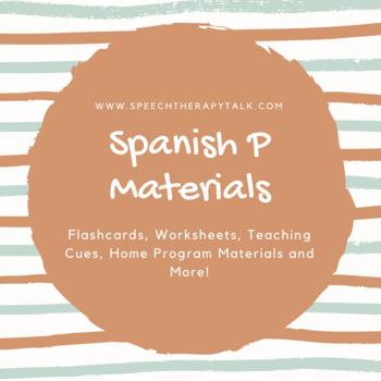 Spanish P Articulation Materials