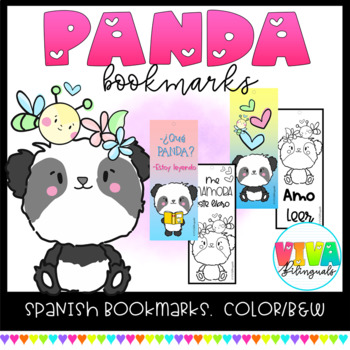 Spanish PANDA Bookmarks