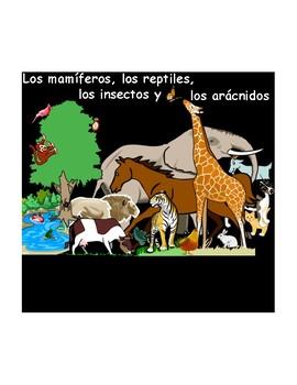 Spanish PDF Version: Mamíferos, reptiles, insectos y arácnidos (los animales)