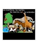 Spanish PDF Version: Mamíferos, reptiles, insectos y arácn