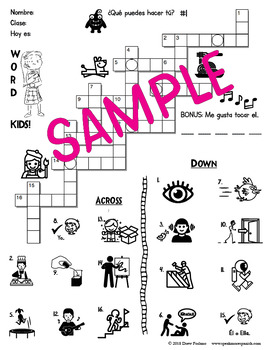 Spanish PODER Puzzles. Crosswords and Word Searches for Young Learners.