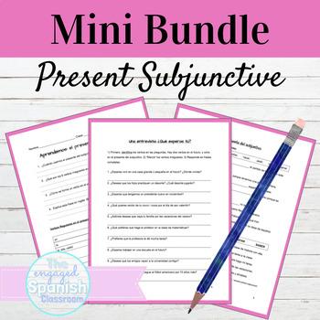 Spanish Present Subjunctive MINI BUNDLE: El presente del subjuntivo