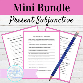 Spanish Present Subjunctive Guided Notes and Practice