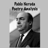 Spanish Pablo Neruda poetry analysis activity
