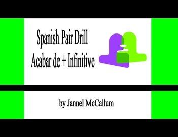Spanish Pair Drill - Acabar de + infinitive