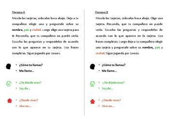 Spanish Pair Work Activity - Meeting New People