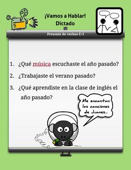 Spanish Task Cards *Regular Preterite Verbs* Verbos Pretérito Regular Español