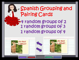 Find Your Spanish Partner:  Pairing and Grouping Cards Templates and Explanation