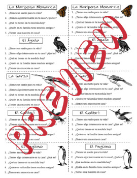 Spanish Tener Task Cards with Birds and Insects of South America. El Verbo Tener